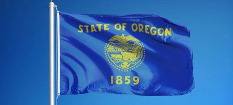 Oregon Outdoor State Flag - #402827