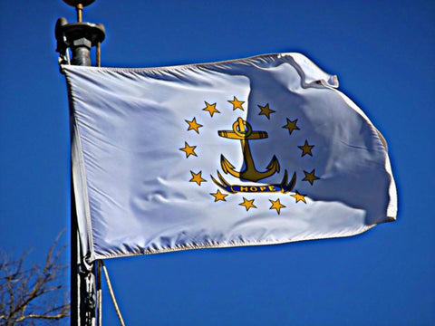 Rhode Island Outdoor State Flag - #402829