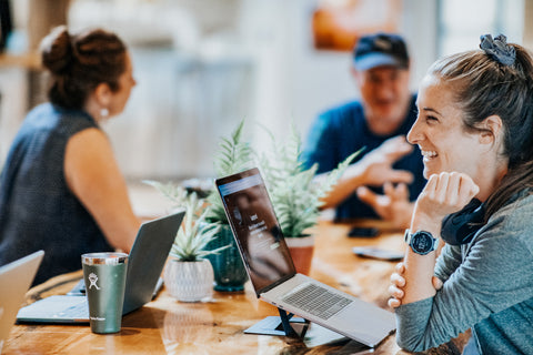 woman joins a coworking space to make new friends