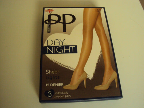 3 Pack Pretty Polly Day to Night 15 denier Tights Navy Blue sizes to XL PNGVH2