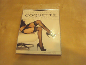 Coquette Sheer Thigh High Stockings One Size fits Queen style 1706