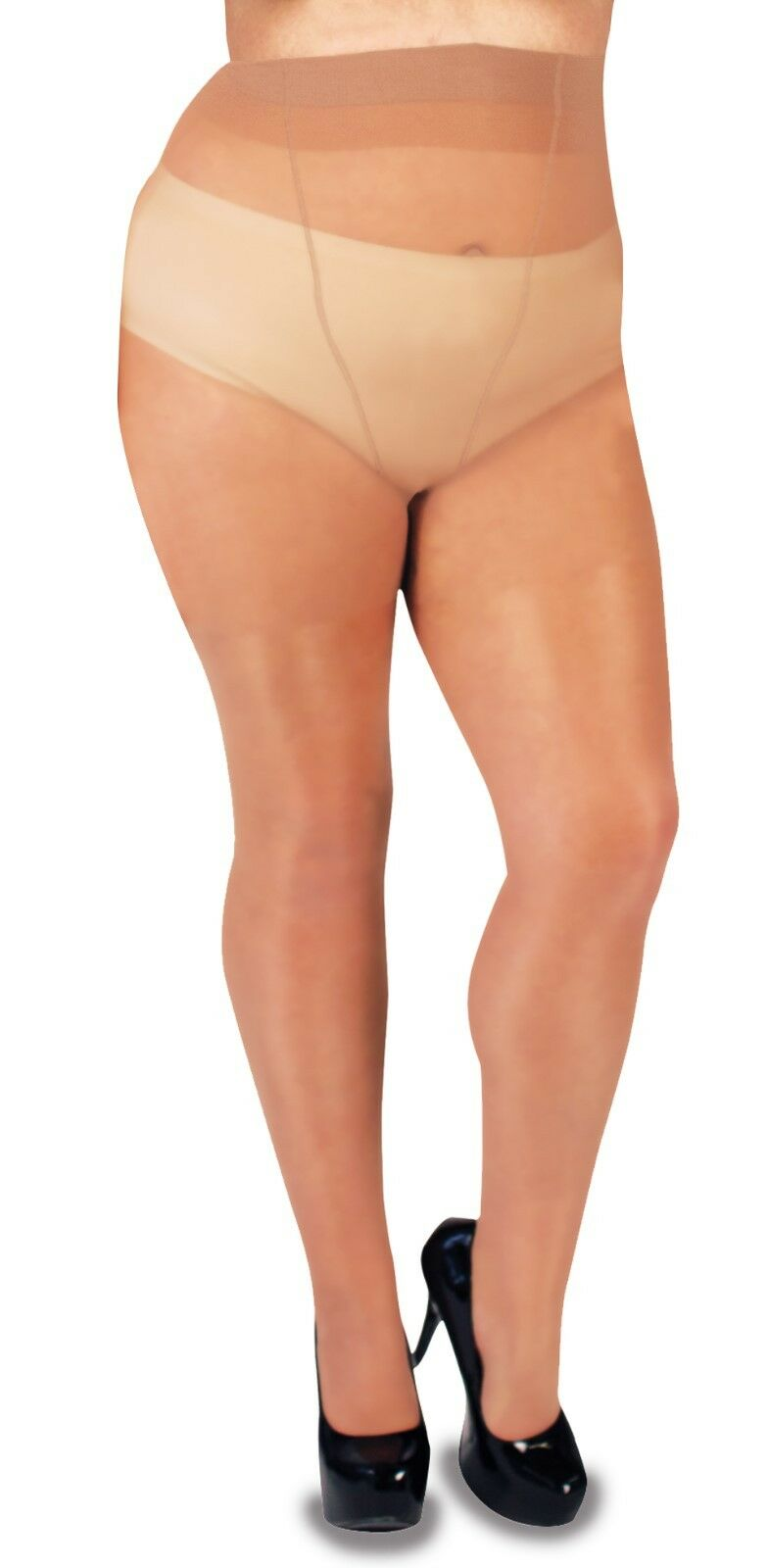Glamory 50222 Satin 20 XT Supersize tights Extended Sizes 5XL-7XL and 8XL-10XL