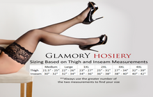 Load image into Gallery viewer, Glamory Deluxe 20 Style 50111 Hold ups (thigh hi's) Black & Champagne up to 4XL