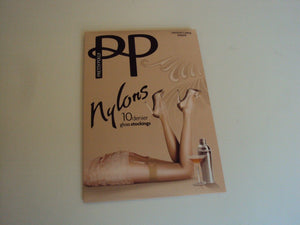 Pretty Polly 10 denier gloss Stockings Size Medium/Large Sherry (Nude) PNAF84