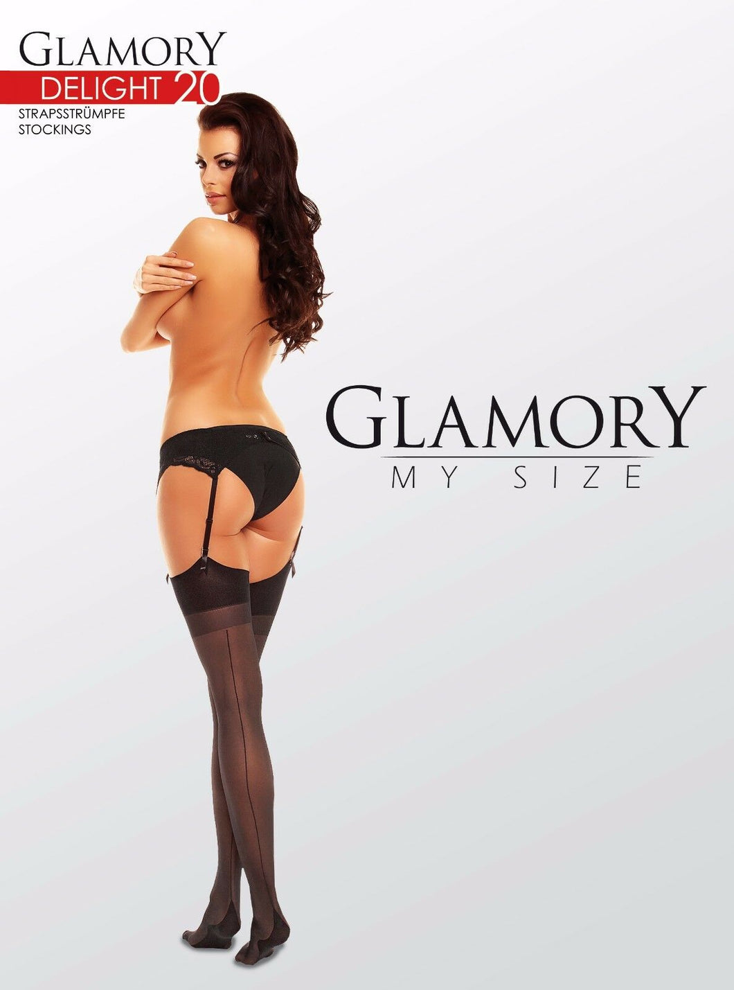 Glamory Delight 20 Seamed Stockings Style 50132 Teint Sizes to 4XL 20 Denier