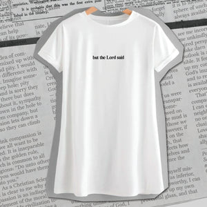 """But the Lord said"" Women's Short Sleeve"