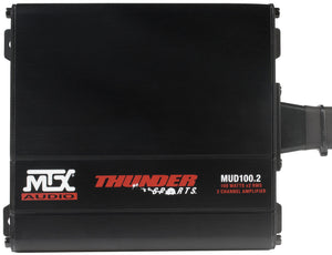 Mtx 2-Channel Amplifier And 2 Roll Cage Speaker Audio Package Universal Kit