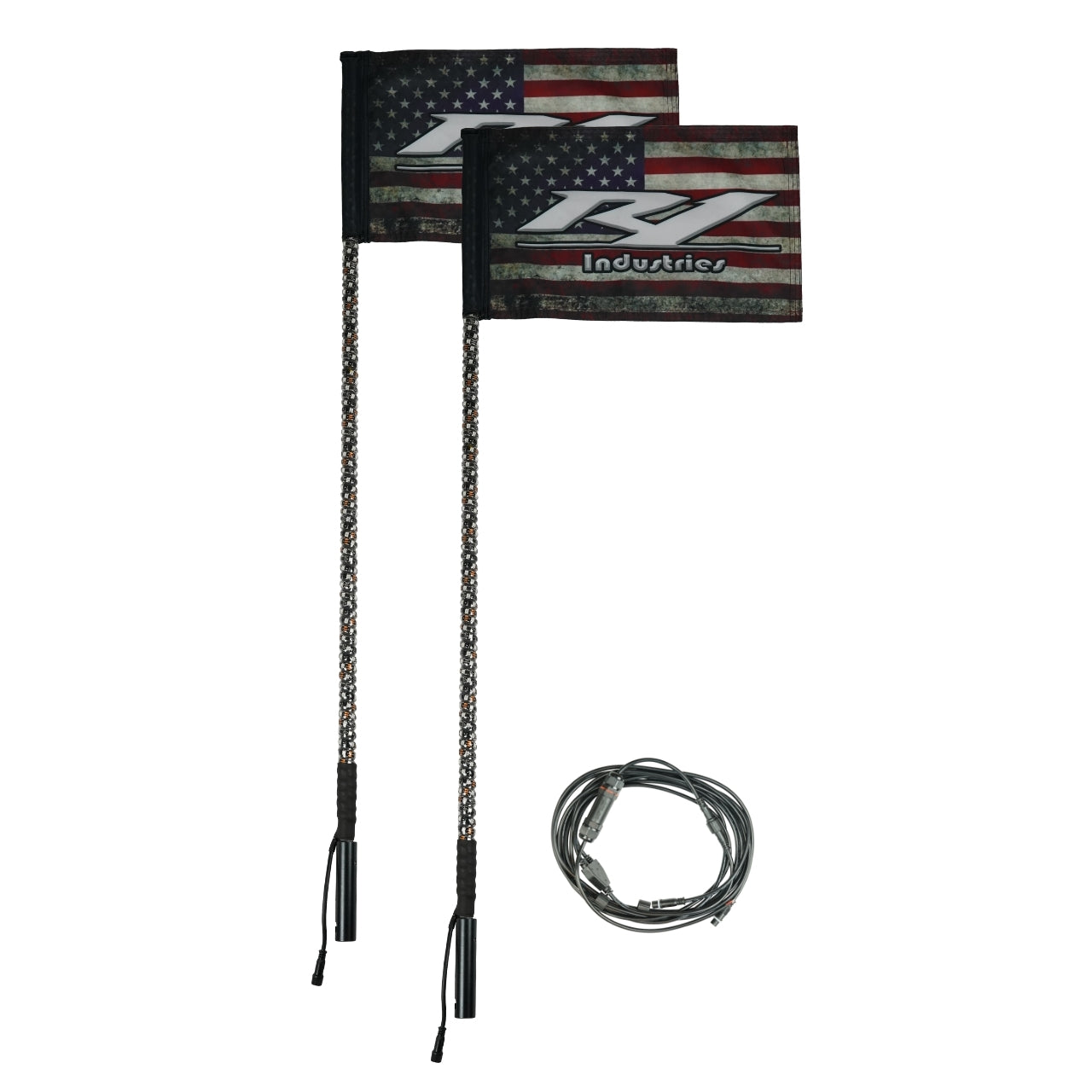 led lighted flags for utv