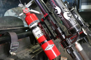 Deviant Race Parts Quick Detach Fire Extinguisher Mount With Extinguisher