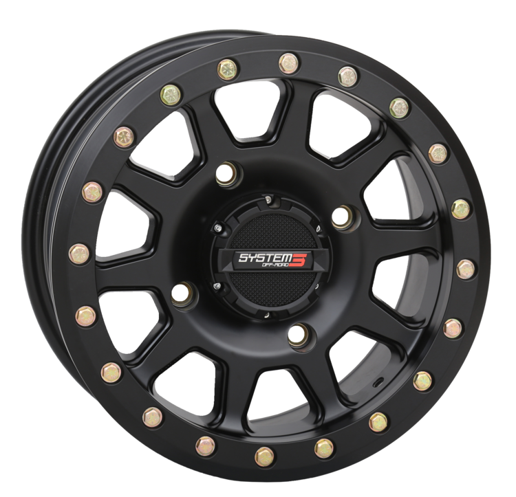 SB-3 Matte Black Beadlock Wheels System 3 Off-Road
