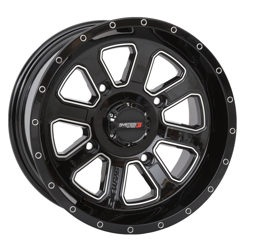 ST-4 Black & Machined Wheels System 3 Off-Road