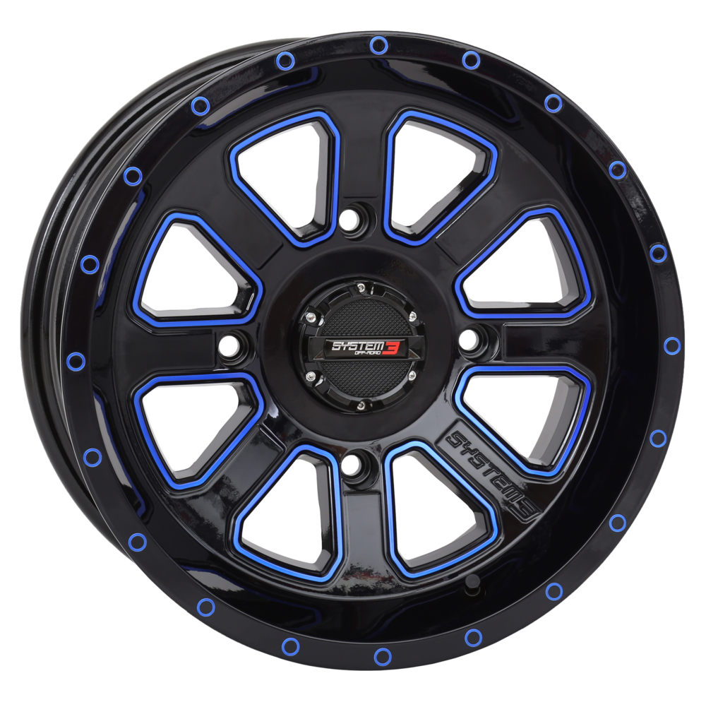 "ST-4 20"" Blue & Black Wheels System 3 Off-Road"