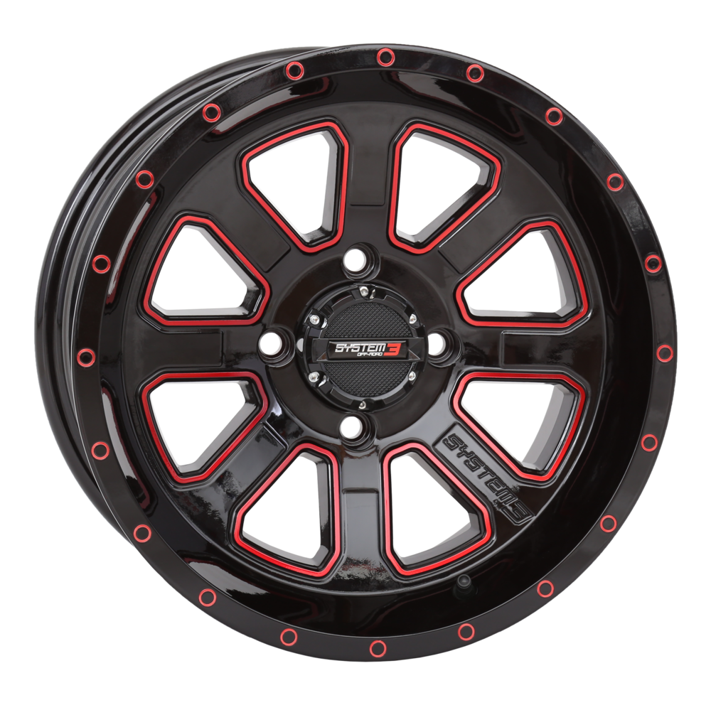 ST-4 Black & Red Wheels System 3 Off-Road