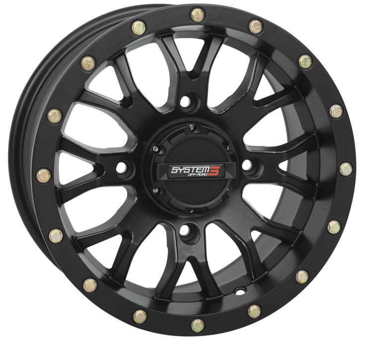 ST-3 Matte Black Simulated Beadlock System 3 Off-Road