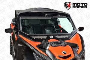 Vented Full Glass Windshield For Can Am Maverick X3 Moto Armor