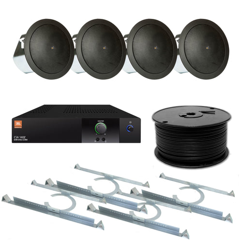 JBL 4-Speaker Background Flush Commercial Audio System