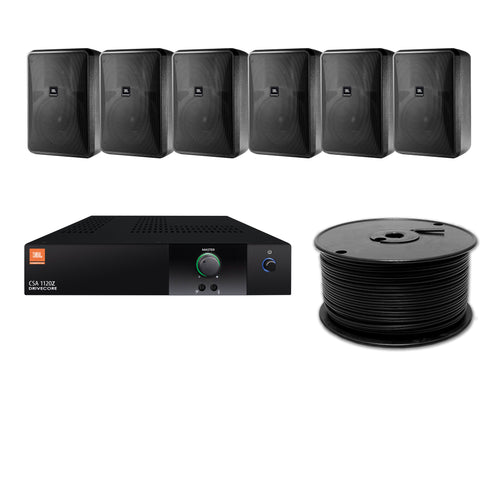 JBL 6-Speaker Foreground Surface Mount Commercial Audio System
