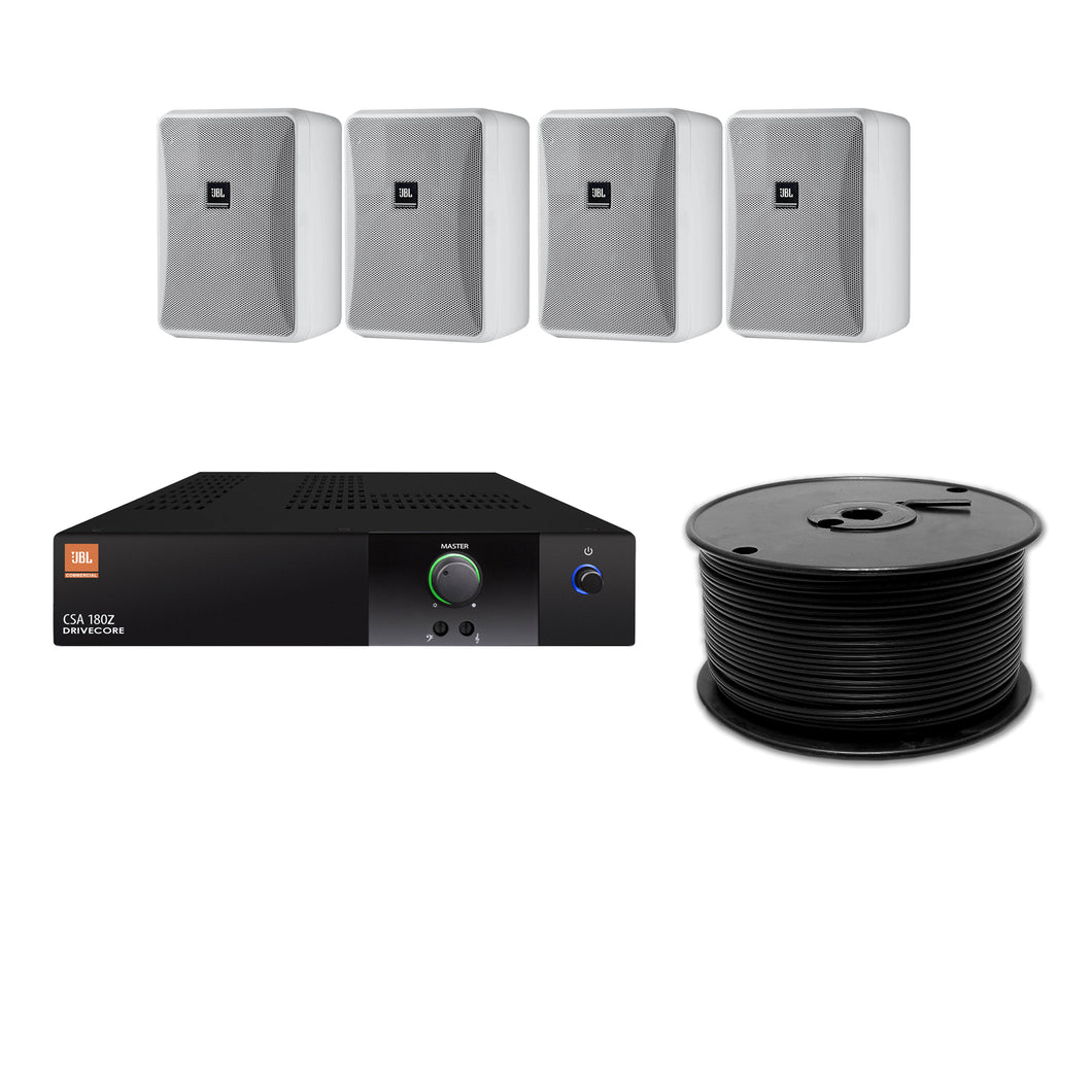 JBL 4-Speaker Midground Surface Mount Commercial Audio System