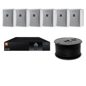 JBL 6-Speaker Midground Surface Mount Commercial Audio System