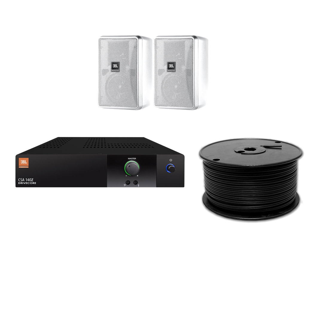 JBL 2-Speaker Background Surface Mount Commercial Audio System