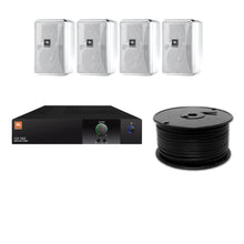 Load image into Gallery viewer, JBL 4-Speaker Background Surface Mount Commercial Audio System