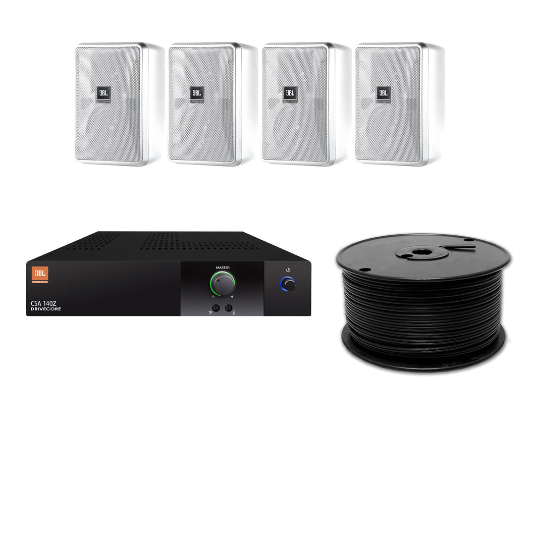 JBL 4-Speaker Background Surface Mount Commercial Audio System