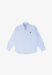POLO OXFORD MANCHES LONGUES SKULL CONTRASTANT