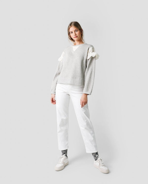 SWEAT-SHIRT AMPLE COMBINÉ