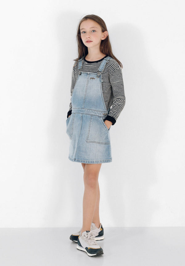 DENIM PINAFORE GIRLS