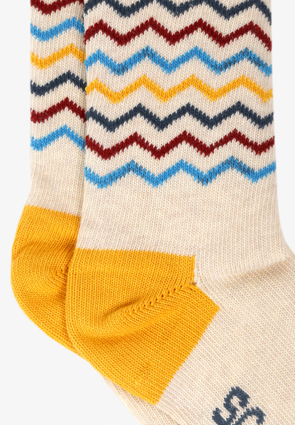 CHAUSSETTES RAYURES ZIGZAG