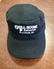 Black Military Grill House Hat