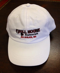 White Grill House Baseball Cap
