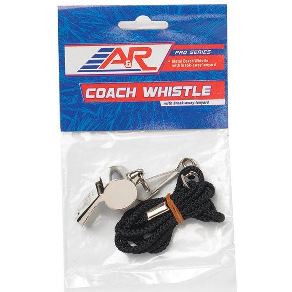 A&R Metal Coaches Whistle with Lanyard - PSH Sports