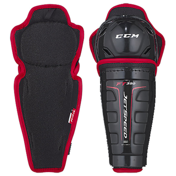 CCM JetSpeed FT350 Hockey Shin Guards - Youth