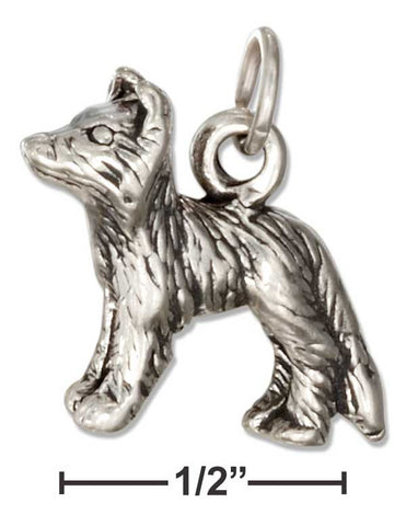 Sterling Silver Three Dimensional Border Collie Dog Charm