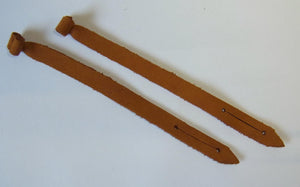 Falconry Mews  Leather Jesses. Pair  1.5mm  or 2.5mm