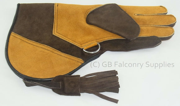 Suede Leather Falconry Glove X Large Double skin Velvet