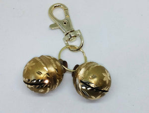 Bells for Dogs & Cats Lahore Diamond Cut Brass, inc Lobster Clasp & ring UK Sell