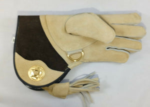 "Falconry Suede Double skinned glove fleece lined (Short Cuff 11"") S,M & L"