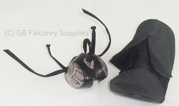 Falconry Hood Protector and Pouch  (fits snuggly on your belt) Dark green colour