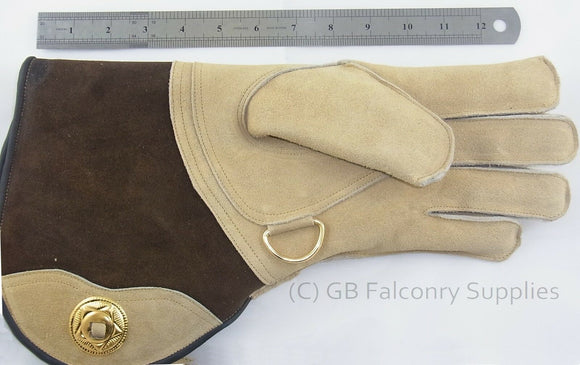 Suede Leather Falconry Glove Extra Extra Large Double skinned