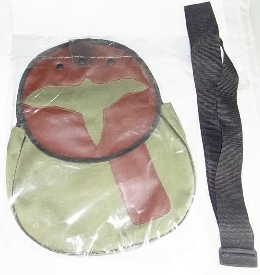 falconry bag and shoulder strap, olive green cordura