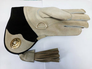 Falconry Suede Double skinned glove fur lined.LADIES SIZES  Small, medium, large