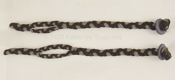 Braided Mews Jesses (para-cord) falconry  extra large  very strong