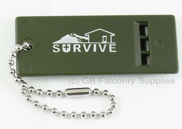 Survival Whistle developed for distance ideal for falconry