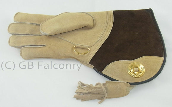 Falconry Suede Double skinned glove fleece lined. Right Handed