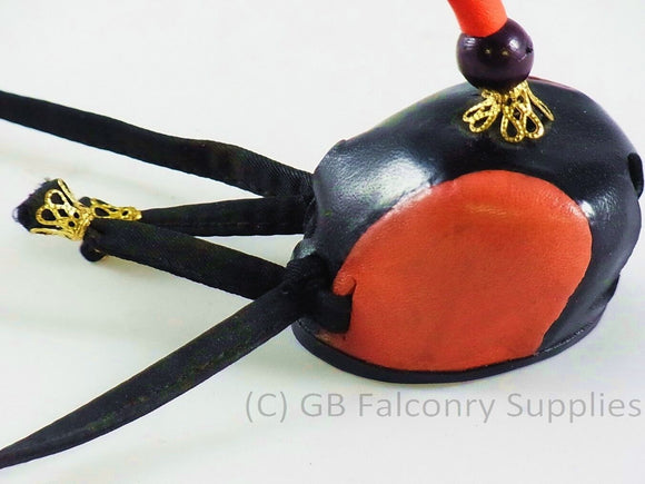 Falconry Mini Hood (half size) with leather loop (ideal for rear view mirror)