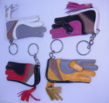 Falconry glove Keyring. Leather .Great detail  including  tassels