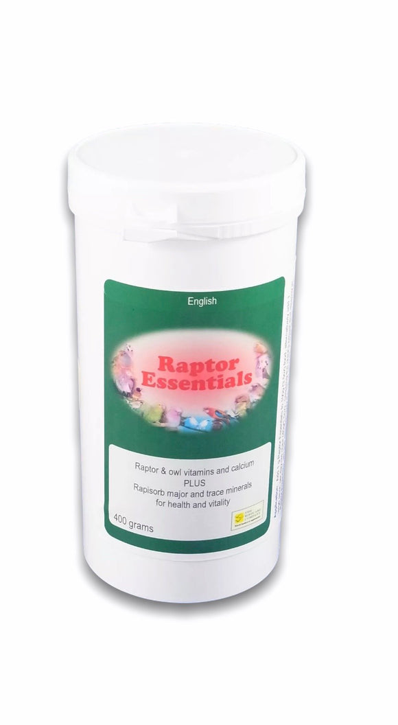 100 gram Raptor Essentials Food Supplement, Falcons, Hawks Owls