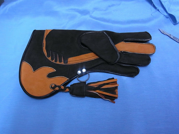 Triple Skinned Falconry glove (Premier range) Large size